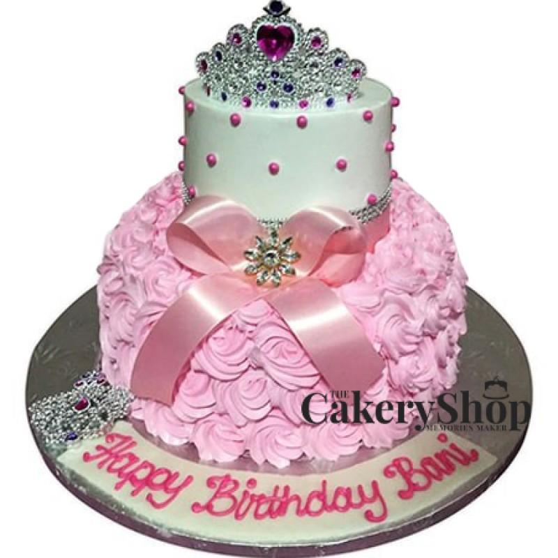 Crown Rosette Cake