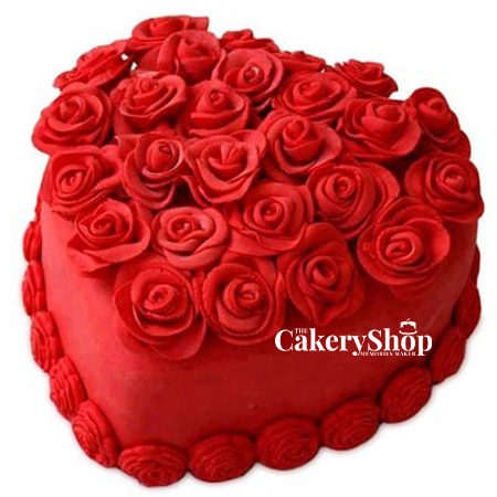 Love Expressive Red Cake