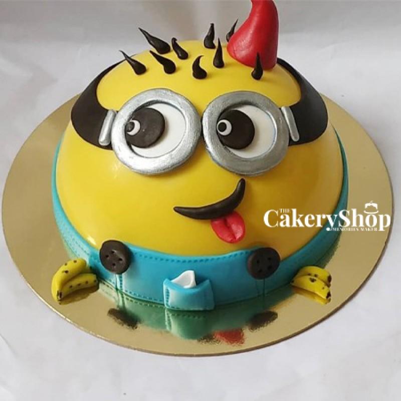Minions Pinata Cake