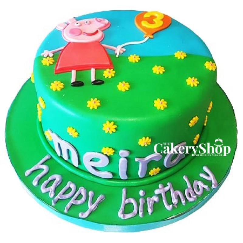 Peppa Fondant Cake