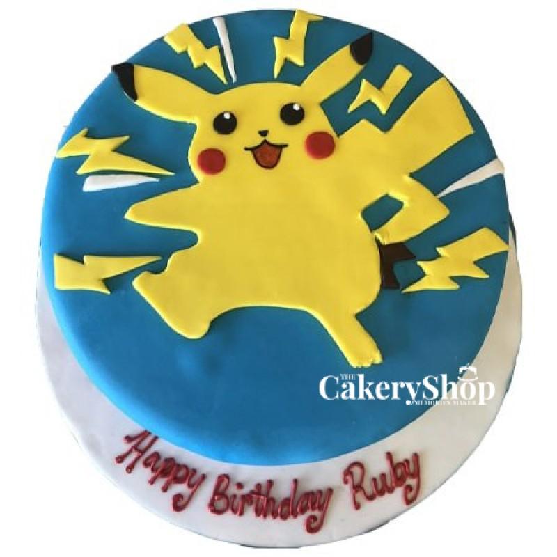 Pikachu Pokemon Fondant Cake