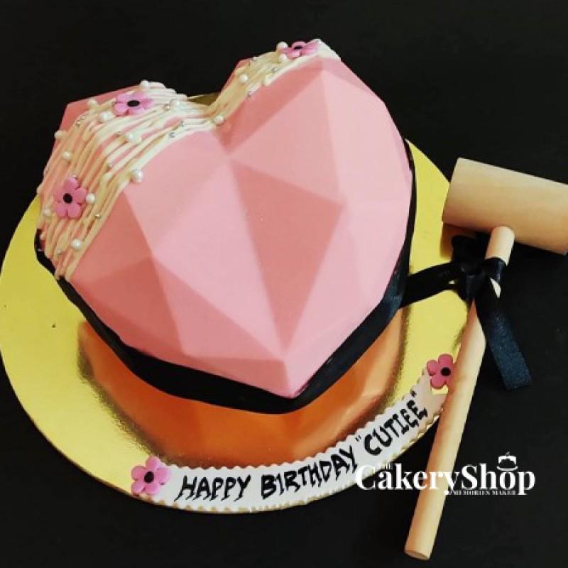 Pink Pinata Cake